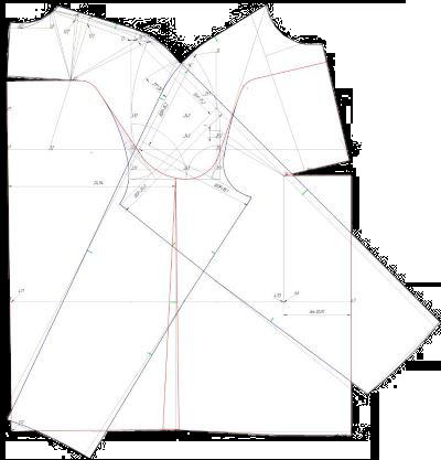 Выкройка платья, выполненная в КОМПАС-3D Home